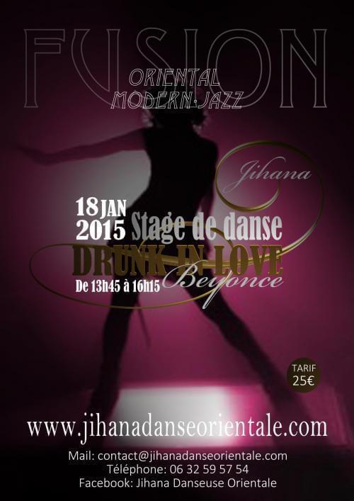 Stage danse orientale Beyoncé 2015